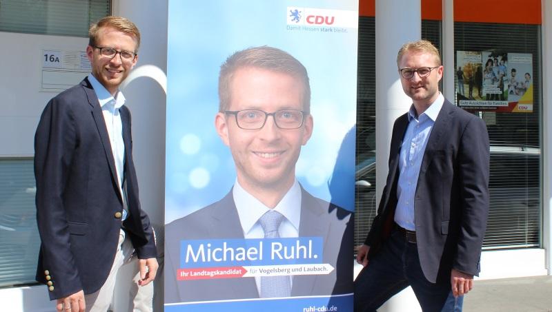 Landtagskandidat Michael Ruhl (links) und CDU-Kreisvorsitzender Dr. Jens Mischak
