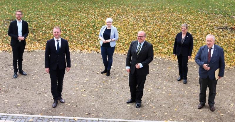Die Spitzenkandidaten der CDU-Vogelsberg (von links): Michael Ruhl, Dr. Jens Mischak, Jennifer Gießler, Stephan Paule, Iris Schmidt und Dr. Hans Heuser